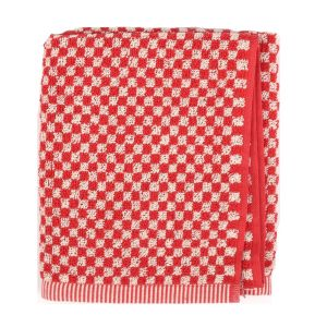 Small Check keukendoek rood